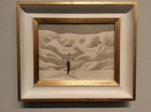 Alfons Walde, Landschaft mit Schifahrer