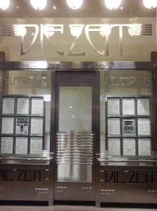 """Otto Wagner, Modell des Portals Depeschenbüro """"Die Zeit"""""""