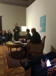 Diskussion Matti Bunzl, Begrüßung Gerald Bast