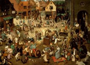 Pieter Bruegel der Ältere, Der Kampf zwischen Karneval und Fasten