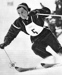 Trude Jochum-Beiser, Gewinnerin der Goldmedaille in der alpinen Kombination und Silbermedaillengewinnerin in der Abfahrt St. Moritz 1948