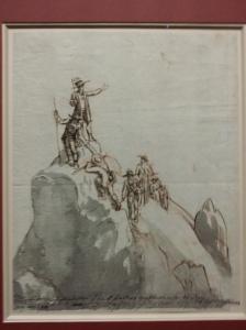 Jakob Gauermann, Besteigung der Hohen Wildstelle (Skizze, 1814)