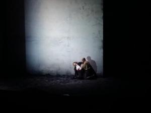 Gilda (Ekaterina Siurina ) und Rigoletto (Giovanni Meoni ) in der Schluss-Szene