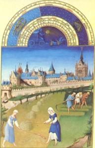 Les Très Riches Heures du Duc de Berry, 1485 bis 1489, Juni (Museé Condé)