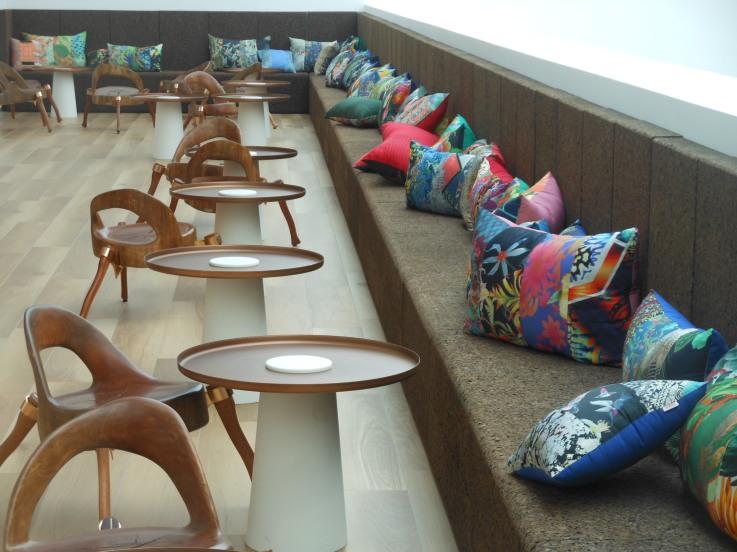 Die Bar im brasilianischen Pavillon