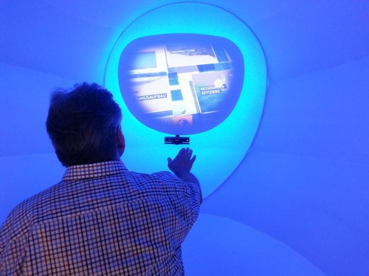 interaktive Spielereien im deutschen Pavillon