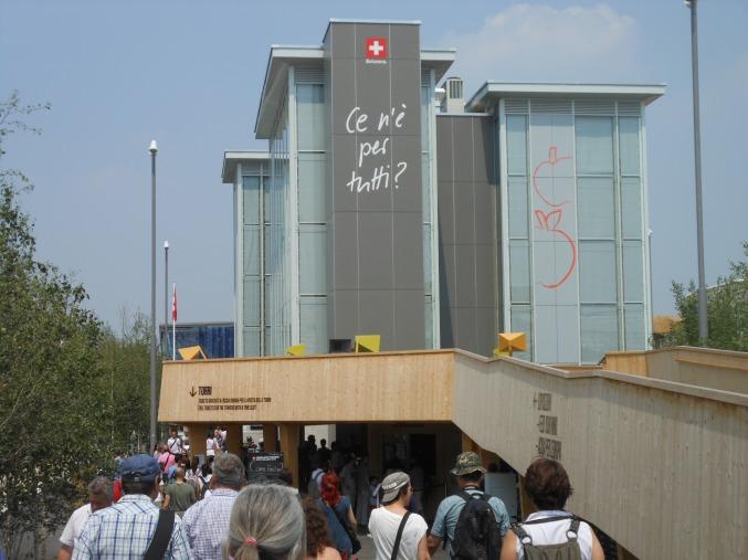 Die Türme des Schweizer Pavillons