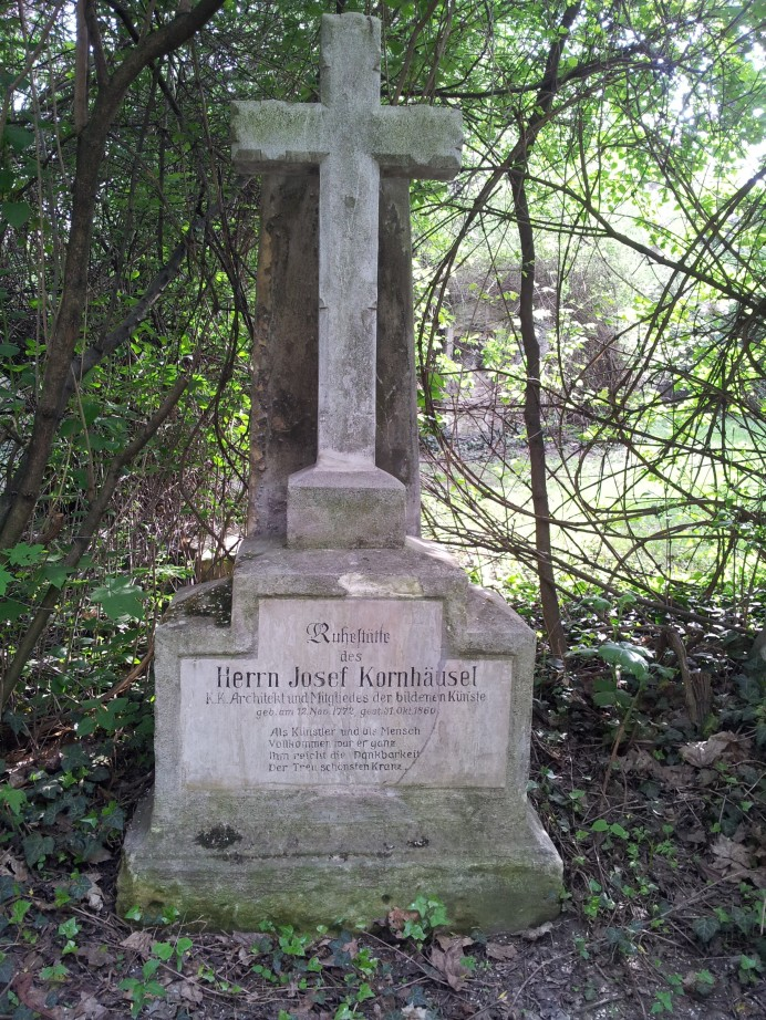 Das Grab von Josef Kornhäus(e)l, St. Marxer Friedhof