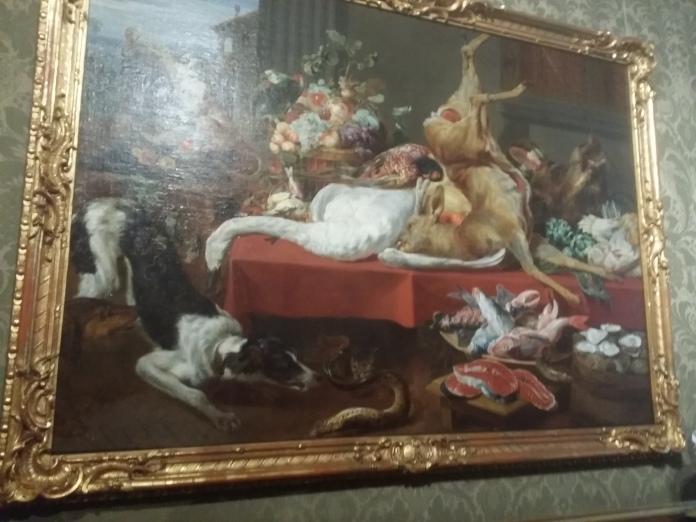 """Frans Snijders """"Stillleben mit dem Affen auf dem Stuhl"""""""