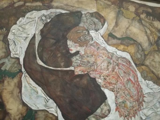 Egon Schiele, Der Tod und das Mädchen, 1915 (Österreichische Galerie Belvedere)