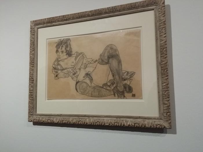 Egon Schiele, Liegender Akt, 1918