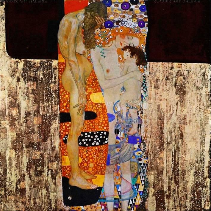 Gustav Klimt, Die drei Lebensalter der Frau, 1905 (Galleria Nazionale d'Arte Moderna e Comtemporanea, Rom)