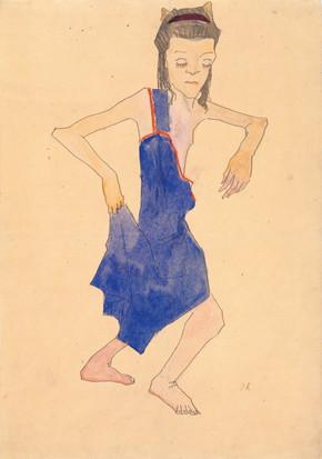 Oskar Kokoschka, Tanzendes Mädchen, 1908 (©Fondation Oskar Kokoschka)