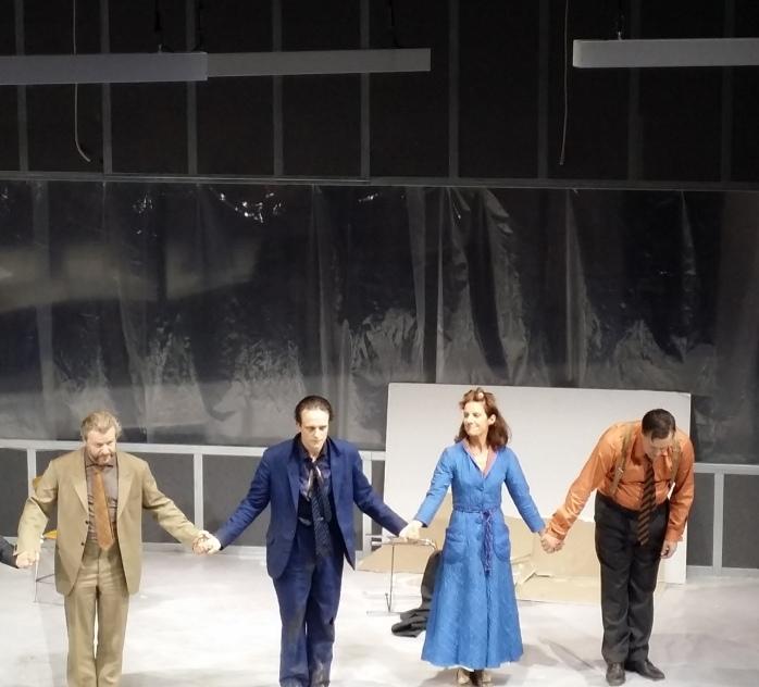 Großartige Schauspielkunst: v.l.n.r. Roland Koch, August Diehl, Andrea Clausen, Nicholas Ofczarek