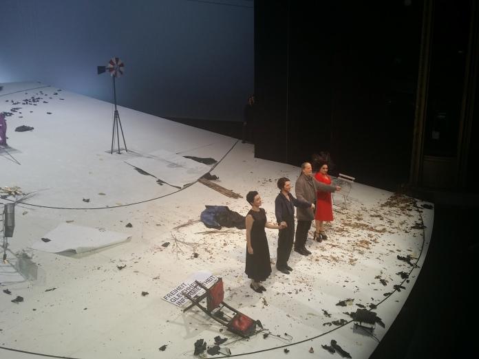 v.l.n.r.: Regina Fritsch, Christopher Nell, Martin Schwab, Maria Happel