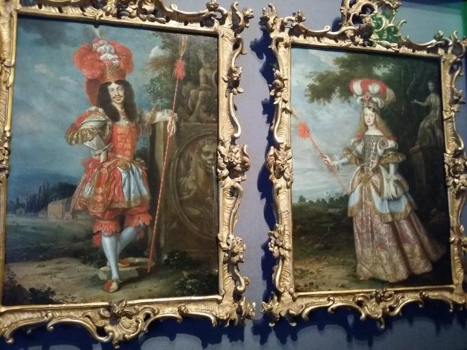 """Kaiser Leopold I. mit seiner Frau Margarita Teresa in Kostümen für """"La Galatea"""" 1667"""