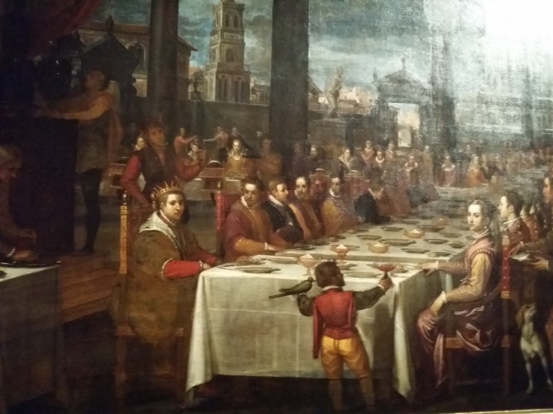 Festliches Bankett zur Zeit der Spätrenaissance, von Domenico Crest (um 1590)