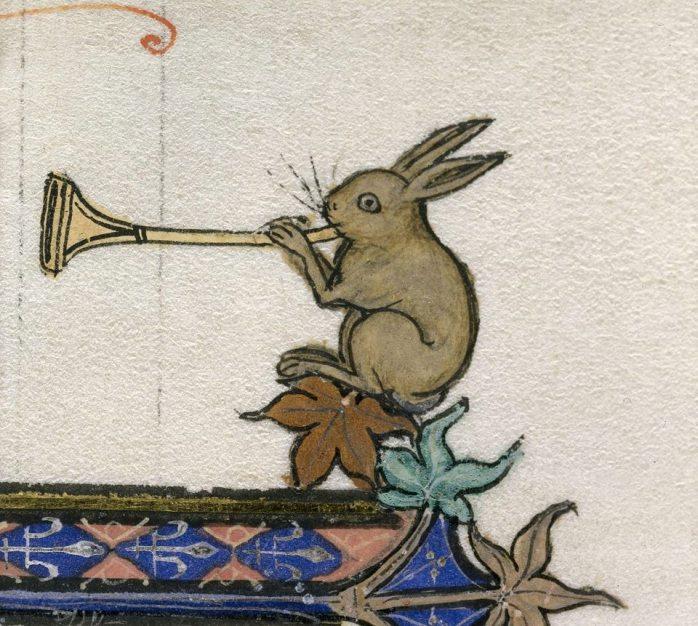 Musikalischer Hase 2. Petrus Comestor, Historia scholastica ('Ashridge Petrus Comestor'), England ca. 1283-1300 (British Library, Royal 3 D VI, fol. 234r)