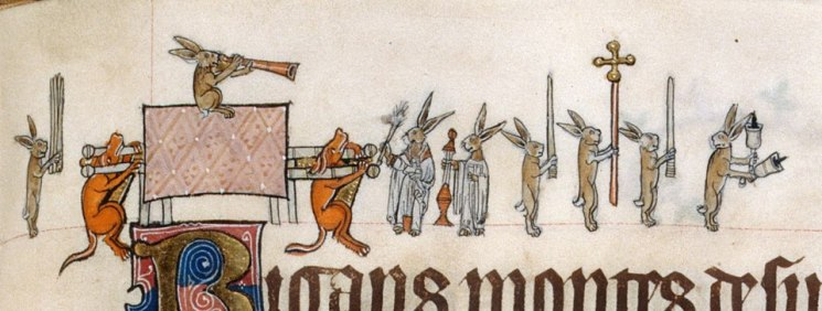 Und noch ein Begräbnis. Gorleston Psalter, England 14th century (British Library, Add 49622, fol. 133r)