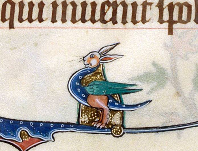 Und was ist das? Gorleston Psalter, England 14th century (British Library, Add 49622, fol. 165v)
