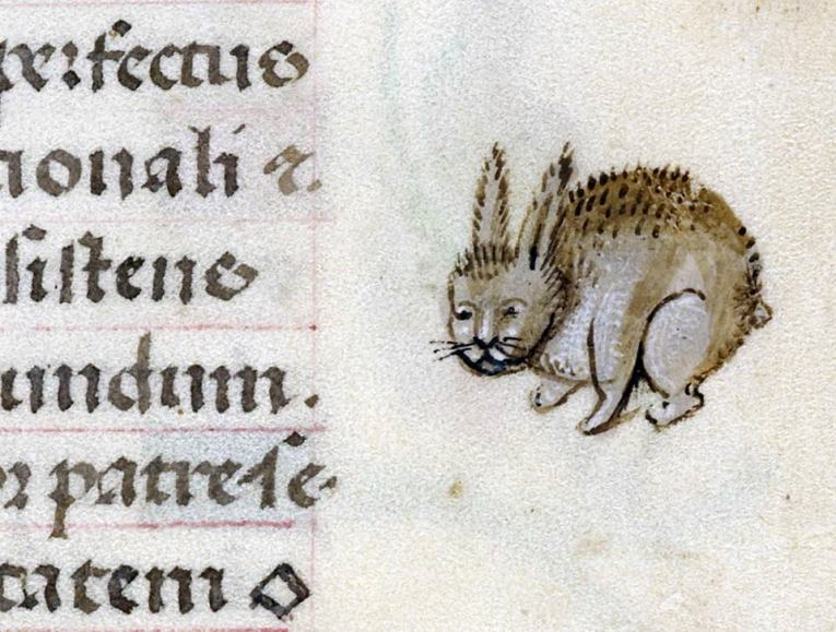 Hase-Igel-Mischung? 'Hours of Joanna the Mad', Bruges 1486-1506 (BL, Add 18852, fol. 141r)