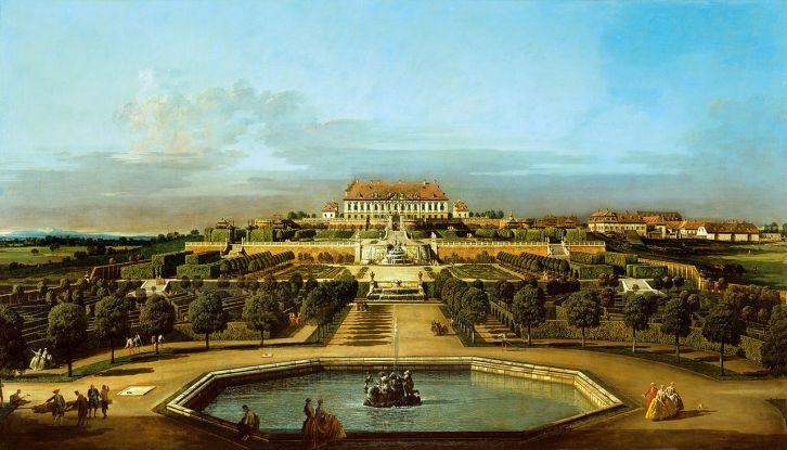 Bernardo Bellotto, gen. Canaletto: Ansicht der Gartenseite (1759/60)