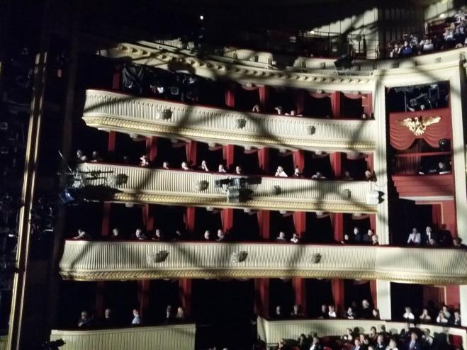 Der schönste Effekt des Abends: Licht-/Schatteneffekte im Zuschauerraum