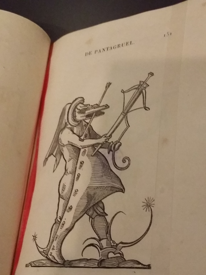 Mischwesen mit Pfeil und Bogen (in: François Rabelais, Pantagruel 1565)