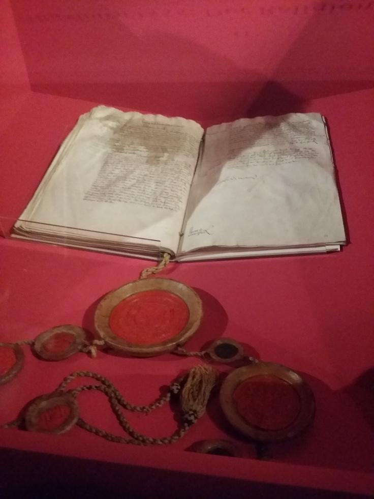 Original des Augsburger Religionsfriedens 1555. Haus-, Hof- und Staatsarchiv