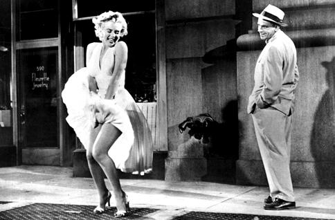 """""""Das verflixte 7. Jahr"""" (Regie: Billy Wilder, 1955): Die berühmte Szene kommt so gar nicht im Film vor."""
